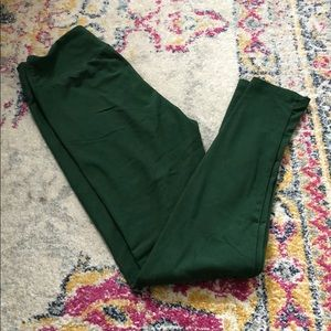 EUC One Size Lularoe Green Leggings